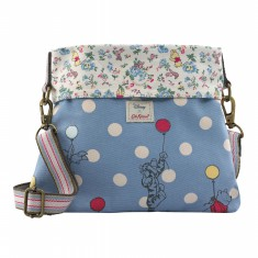 DISNEY MINI REVERSIBLE MESSENGER BAG BALLOON SPOT BLUE