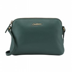SLIM LEATHER CROSS BODY RICH GREEN
