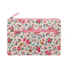 DISNEY KIDS DOUBLE ZIP PENCIL CASE BRAMLEY SPRIGFRIENDS PINK