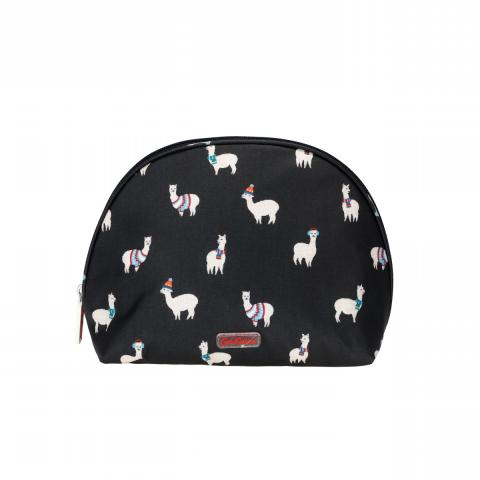 Curved Cosmetic BagMini AlpacasMidnight Blue