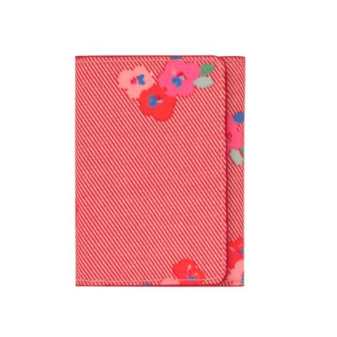 TICKET HOLDER PANSY TWILL