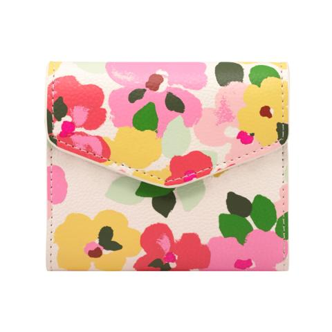 M WALLET LARGE PAINTED PANSIES