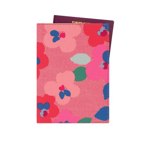 PASSPORT HOLDER LARGE PANSY TWILL