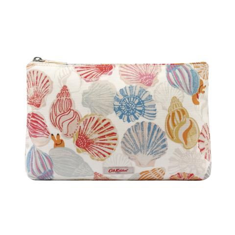 MATT ZIP COSMETIC BAG SEASIDE SHELLS