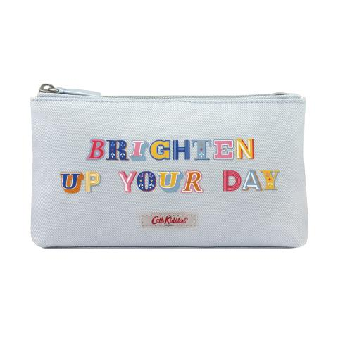 ZIP MAKE UP BAG BRIGHTEN UP YOUR DAY