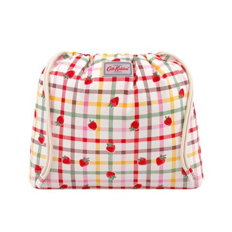 BASKET POUCH GINGHAM CHECK