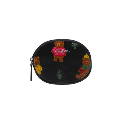 Oval Coin Purse Woodland Bear
