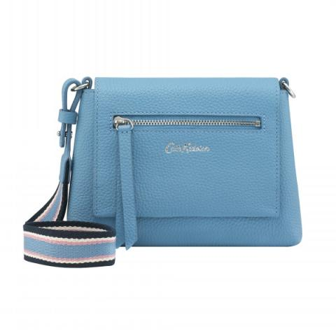 BARTON LEATHER CLUTCH SOLID CORNFLOWER