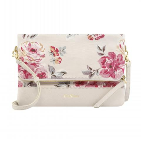 LEATHER FOLDOVER CLUTCH BRAMPTON BUNCH