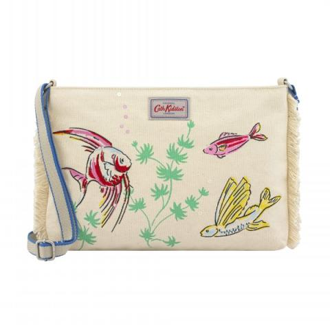 CANVAS CLUTCH JELLYFISH