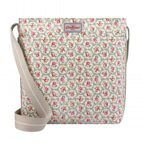 ZIPPED MESSENGER BAG PROVENCE ROSE