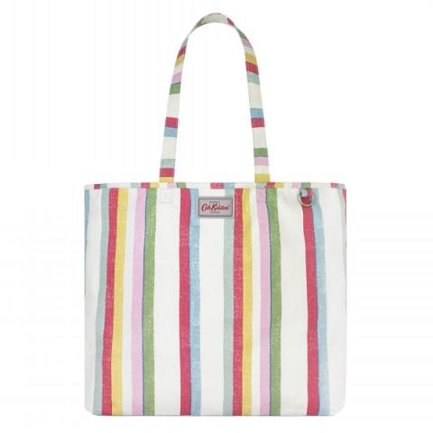 BEACH TOTE MULTI STRIPE