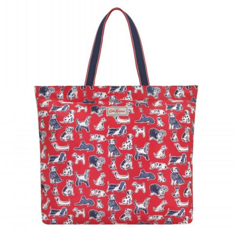 LARGE FOLDAWAY TOTE SQUIGGLE DOGS