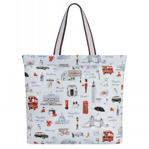 LARGE FOLDAWAY TOTE LONDON ICONS