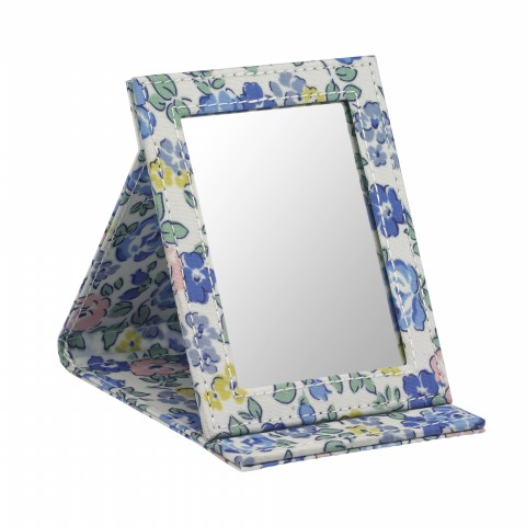 STAND UP COMPACT MIRROR WALTON ROSE BLUE