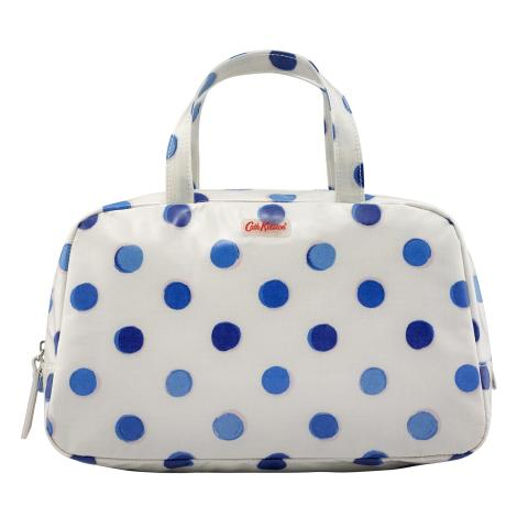 WASH BAG W/GRAB HANDLE INKY SPOT CREAM