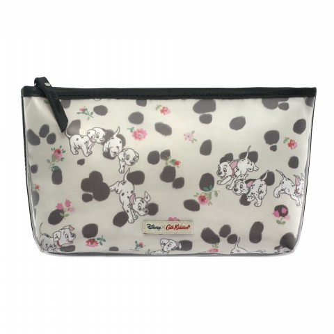 DISNEY POLY LINED MAKE UP BAG SOLID CLEAR