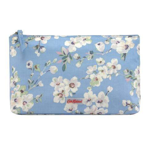 MATT ZIP COSMETIC BAG WELLESLEY BLOSSOM SOFT BLUE