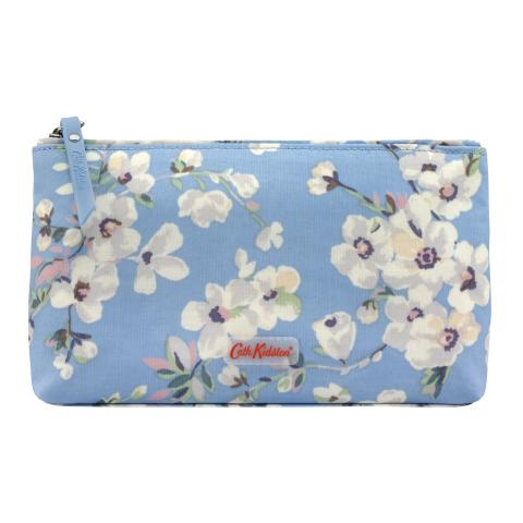 MATT ZIP MAKE UP BAG WELLESLEY BLOSSOM SOFT BLUE