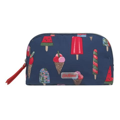 POLY DOUBLE ZIP POUCH LITTLE ICE CREAM MIDNIGHT