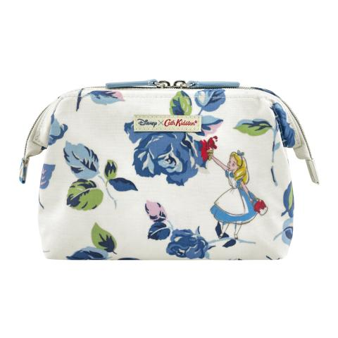 PAINTING THE ROSES LIGHT CREAM DISNEY FRAME COSMETIC BAG