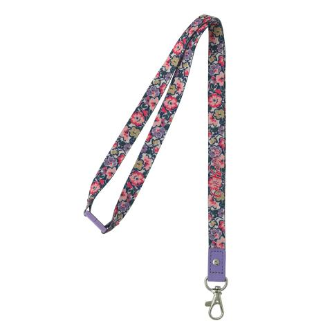 LANYARD POLYESTER FOREST DITSY LILAC MULTI