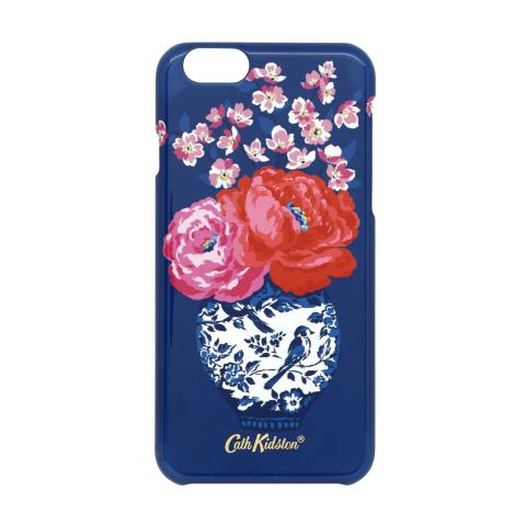 IPHONE 6 CASE BLOSSOM VASES SOFT NAVY