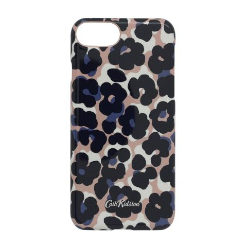 IPHONE 7 CASE LEOPARD FLOWER PLASTER PINK NAVY