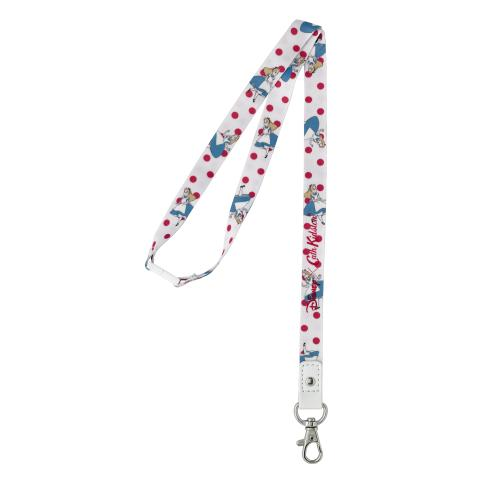 FALLING ALICE LIGHT CREAM DISNEY LANYARD