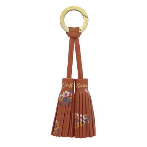 LEATHER DOUBLE TASSEL WOODSTOCK DITSY BRONZE