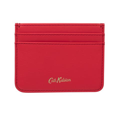 LEATHER CARD HOLDER SOLID CHERRY