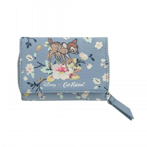 BAMBI SMALL COMPACT WALLET LEATHER FREE