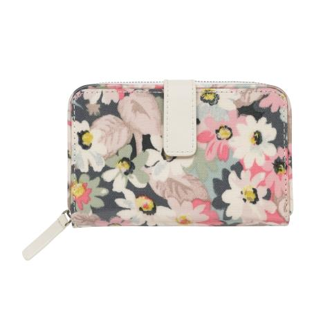 FOLDED ZIP WALLET MINI PAINTED DAISY