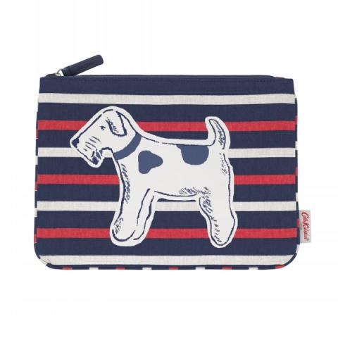DOG STRIPE POUCH SQUIGGLE DOGS
