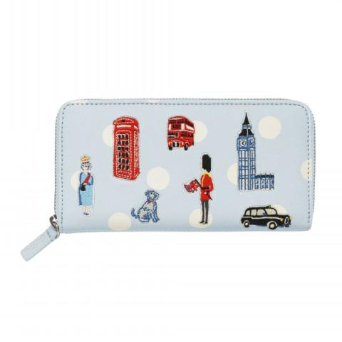 CONTINENTAL ZIP WALLET MINI LONDON ICONS