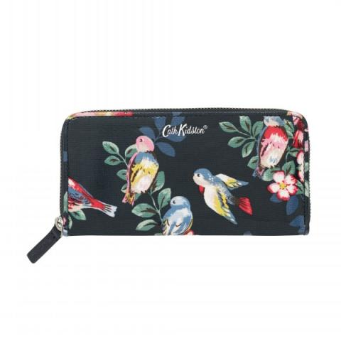 CONTINENTAL ZIP WALLET SPRING BIRDS