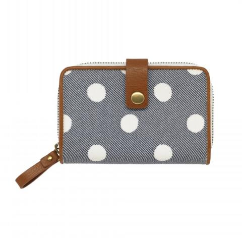 ZIP WALLET BUTTON SPOT TWILL