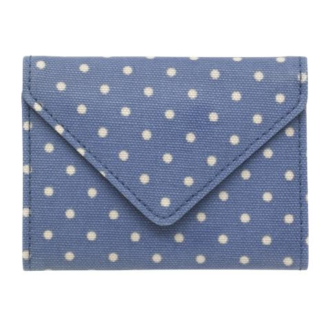 ENVELOPE CARD HOLDER MINI DOT PERIWINKLE