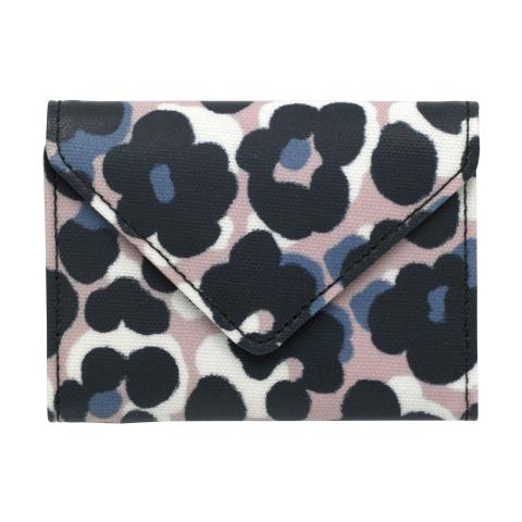 ENVELOPE CARD HOLDER LEOPARD FLOWER PLASTER PINK NAVY