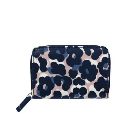 POCKET PURSE LEOPARD FLOWER PLASTER PINK NAVY