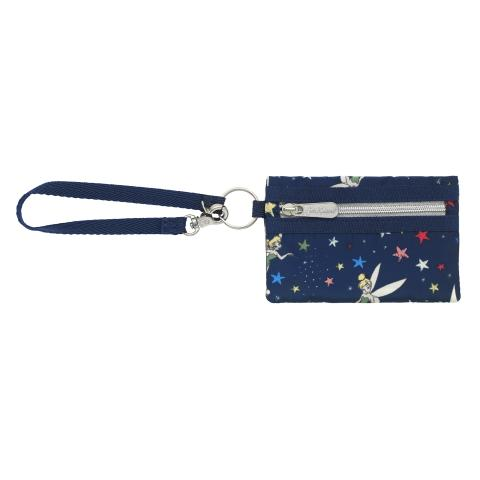 DISNEY POLY MINI CARD PURSE TINKER BELL STARRY NIGHT NAVY
