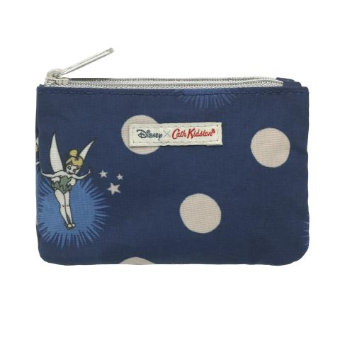 DISNEY DUO PURSE TINKER BELL BUTTON SPOT NAVY