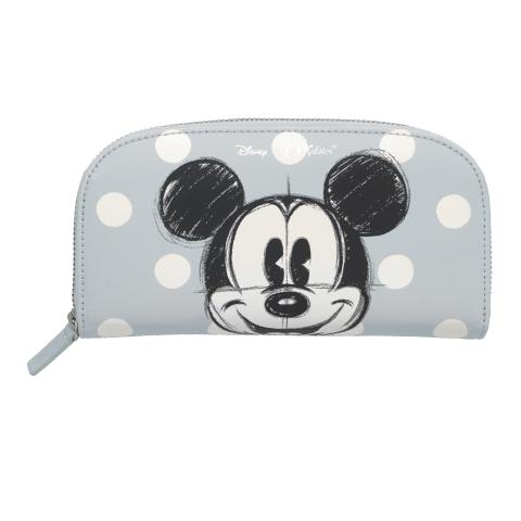 Disney Curved Continental Wallet Mickey & Friends Placement Light Grey