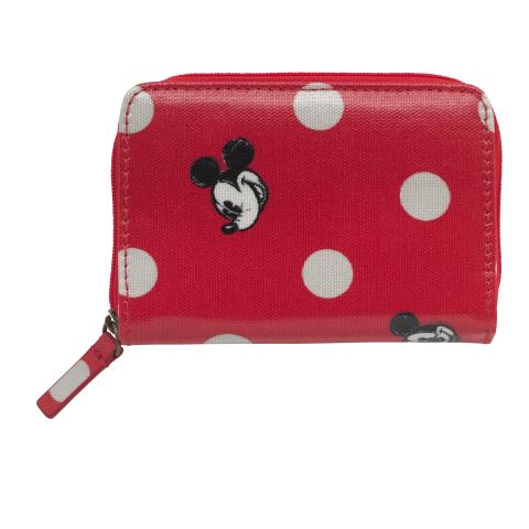 Disney Pocket purse Mickey & Friends Button Spot Red