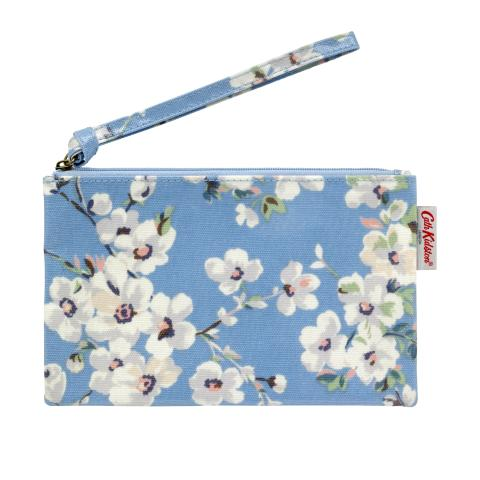 ZIP PURSE WITH WRIST STRAP WELLESLEY BLOSSOM SOFT BLUE
