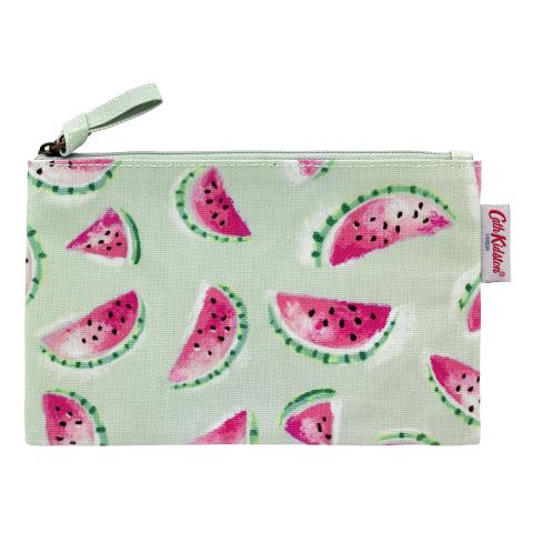 ZIP PURSE WATERMELONS PISTACHE
