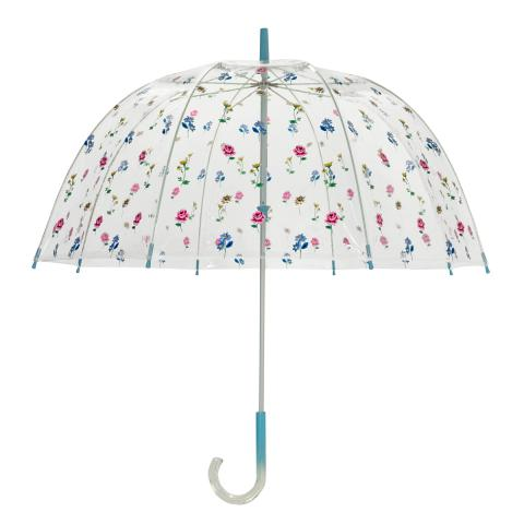OMBRE BIRDCAGE UMBRELLA LULWORTH FLOWERS CLEAR
