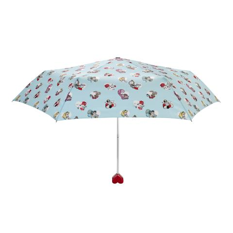 ALICE HEARTS COOL BLUE DISNEY HEART HANDLE MINILITE UMBRELLA