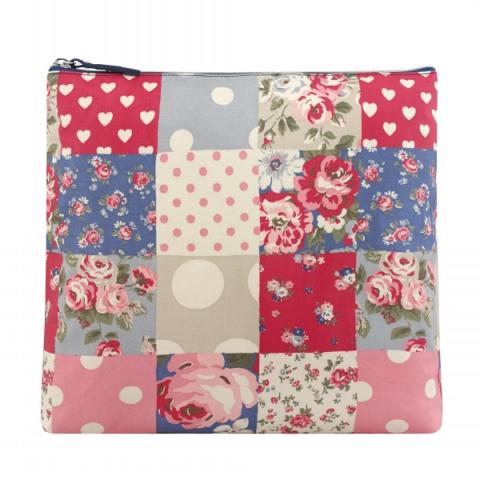 TALL COSMETIC BAG PATCHWORK