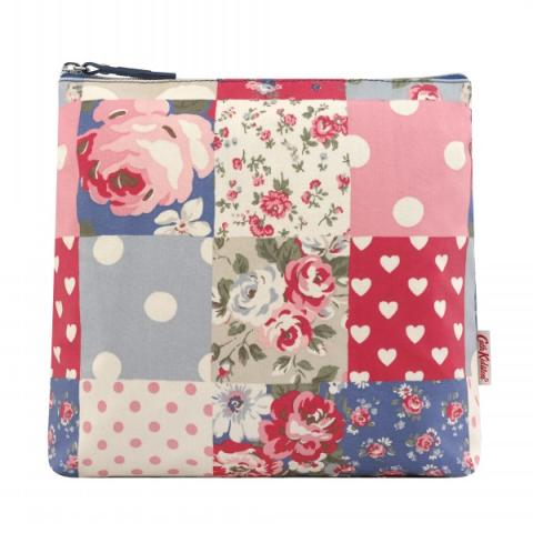 TALL MAKE UP BAG PATCHWORK